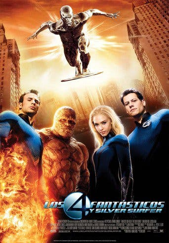 "Poster for the movie ""Los 4 fantásticos y Silver Surfer"""