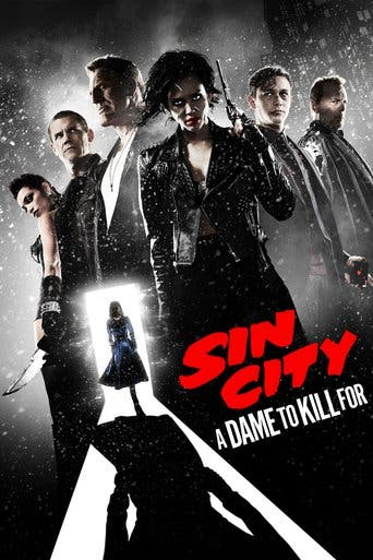 "Poster for the movie ""Sin City: Una dama por la que matar"""