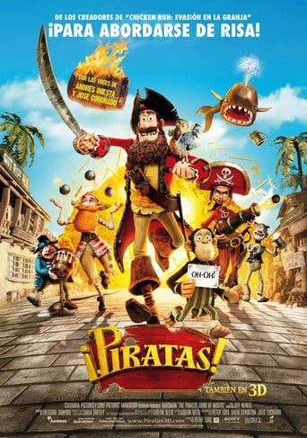 "Poster for the movie ""¡Piratas!"""