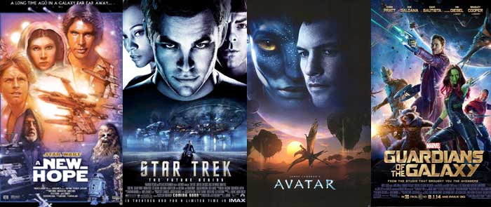 Star Wars, Star Trek, Avatar y Guardianes de la Galaxia