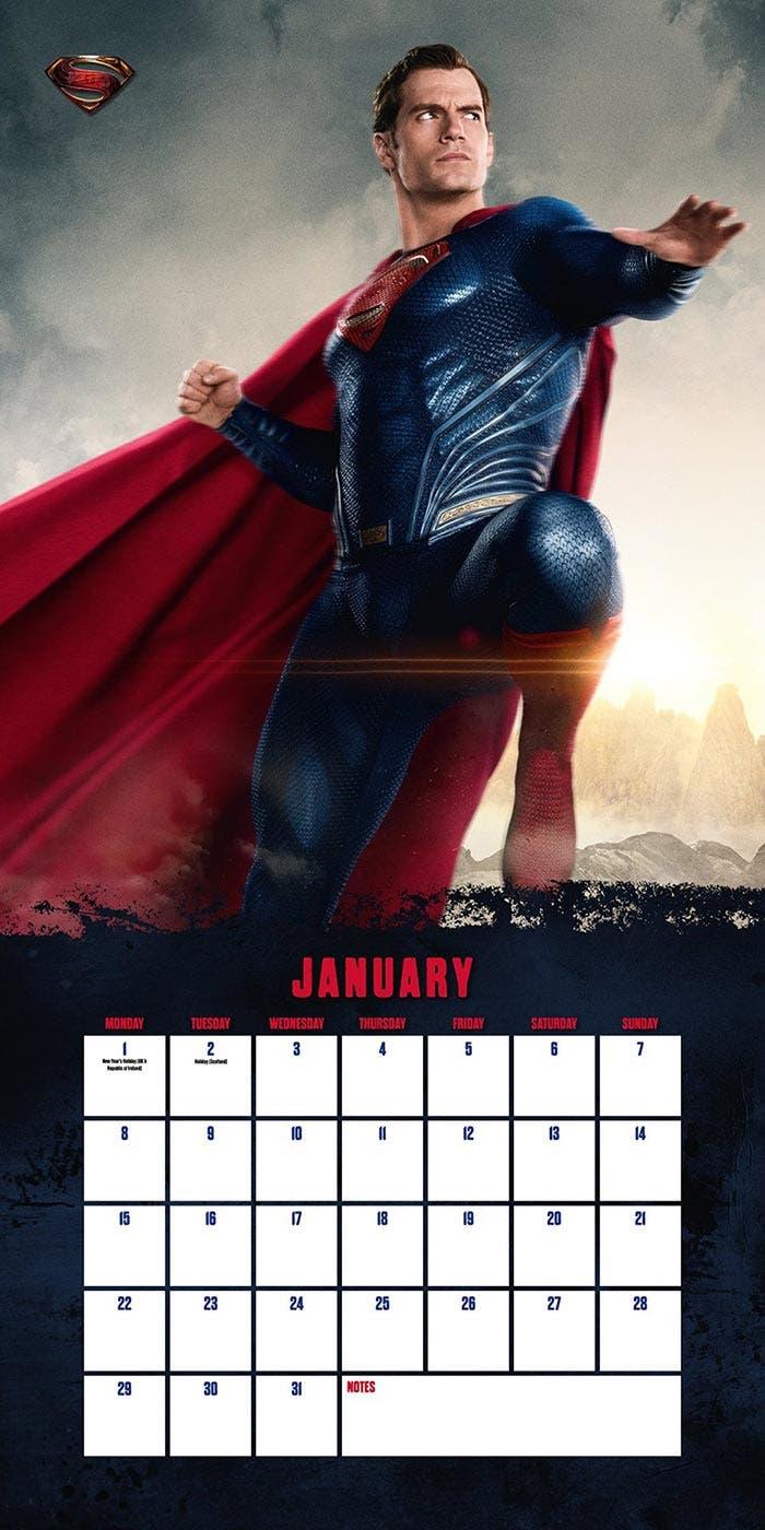 Superman en el calendario de la Liga de la Justicia