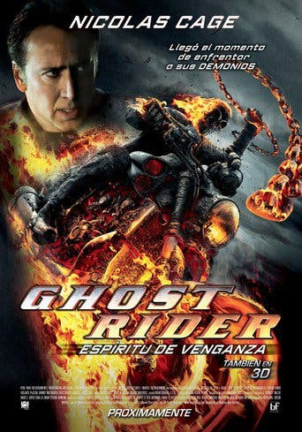 "Poster for the movie ""Ghost Rider: Espíritu de venganza"""
