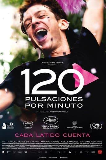 """Poster for the movie """"120 pulsaciones por minuto"""""""