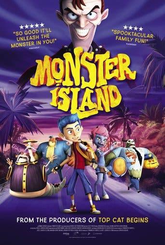 """Poster for the movie """"La isla de los monstruos"""""""