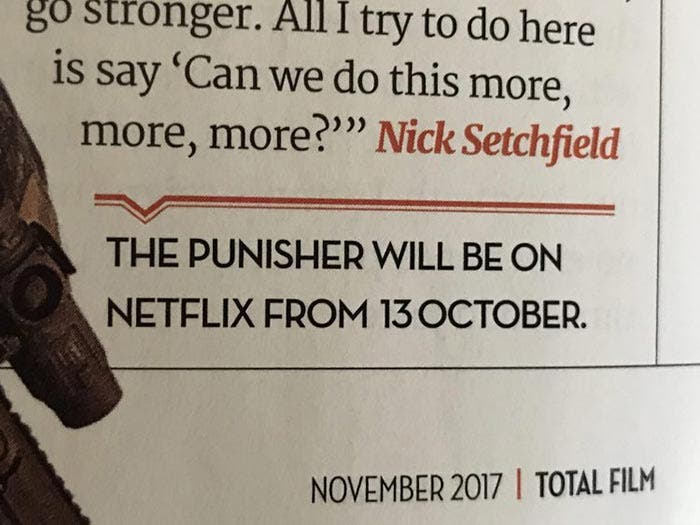 Fecha de estreno de The Punisher (Netflix)