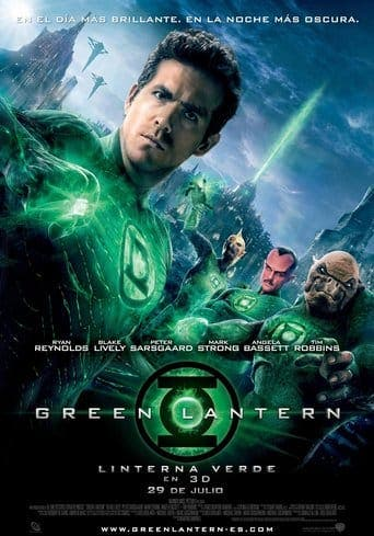 "Poster for the movie ""Green Lantern (Linterna verde)"""