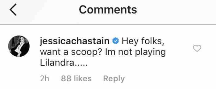 Jessica Chastain no será Lilandra en X-Men: Dark Phoenix (2018)