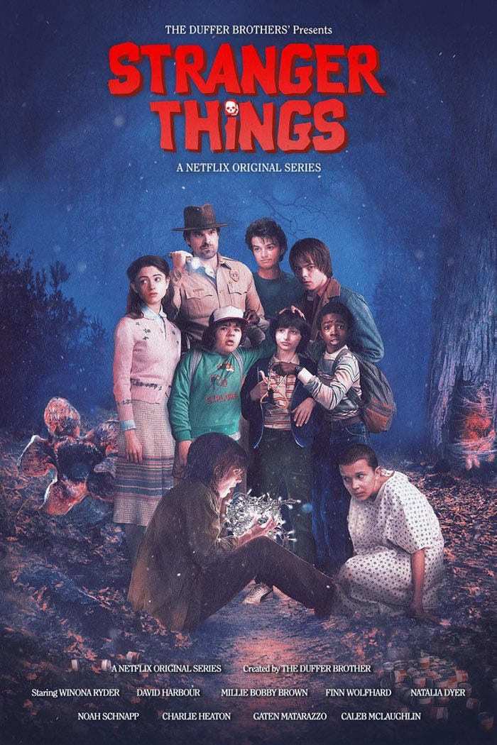 Póster de Stranger Things (Netflix)