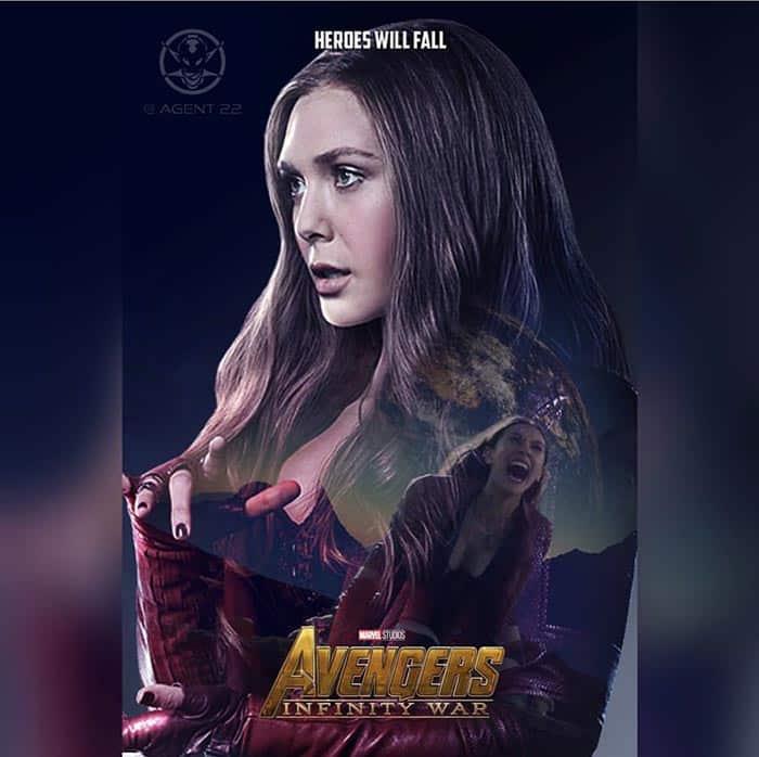 Póster Vengadores: Infinity War (2018) - Bruja Escarlata
