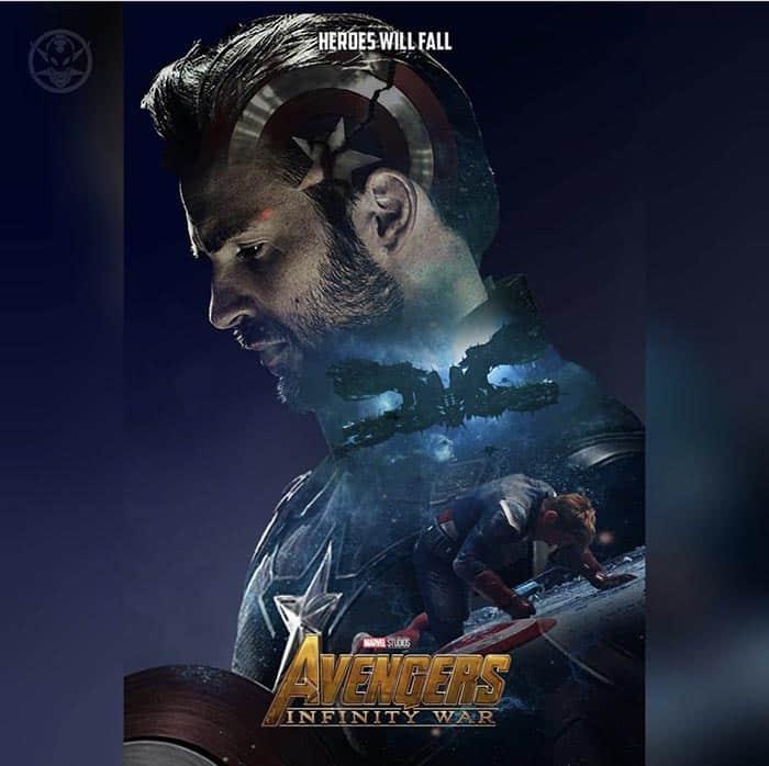 Póster Vengadores: Infinity War (2018) - Capitán América