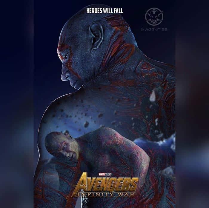 Póster Vengadores: Infinity War (2018) - Drax