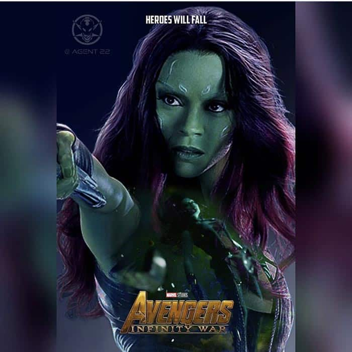 Póster Vengadores: Infinity War (2018) - Gamora