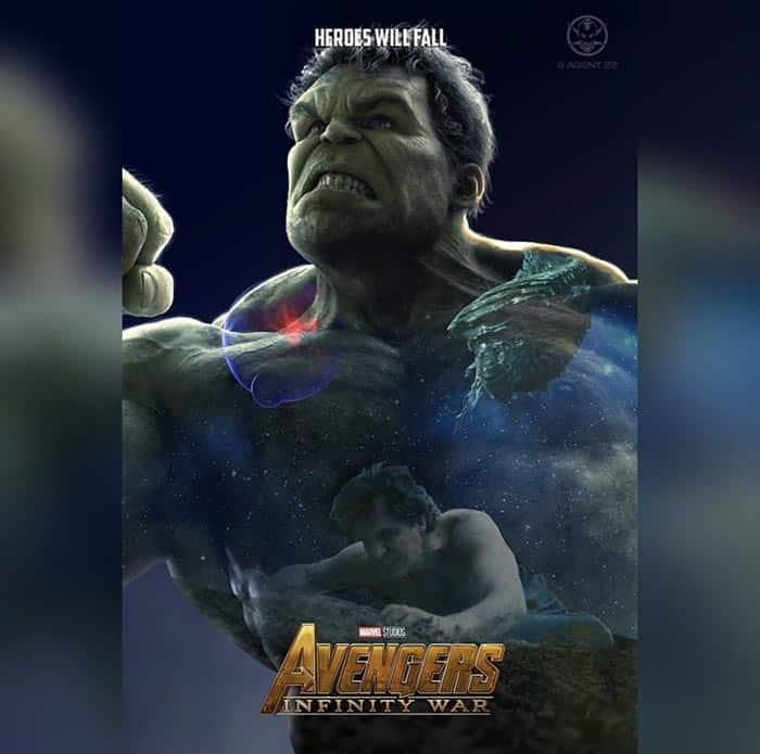 Póster Vengadores: Infinity War (2018) - Hulk