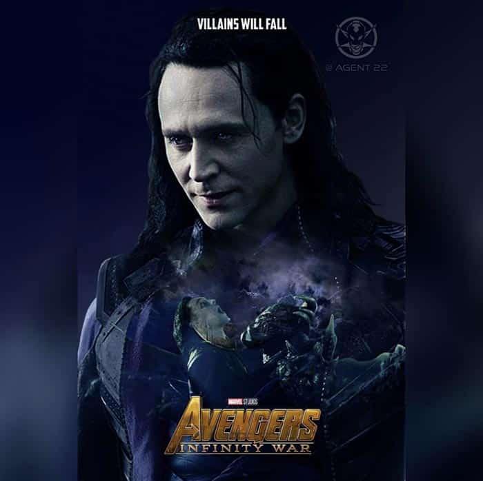 Póster Vengadores: Infinity War (2018) - Loki