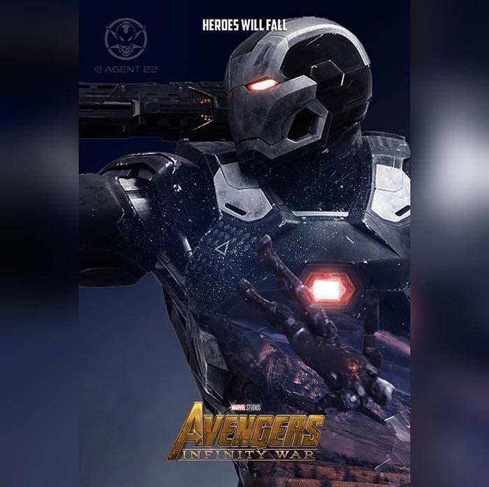 Póster Vengadores: Infinity War (2018) - Máquina de Guerra