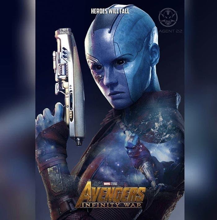 Póster Vengadores: Infinity War (2018) - Nébula