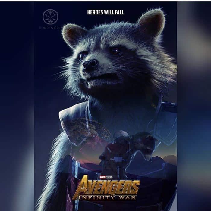 Póster Vengadores: Infinity War (2018) - Rocket