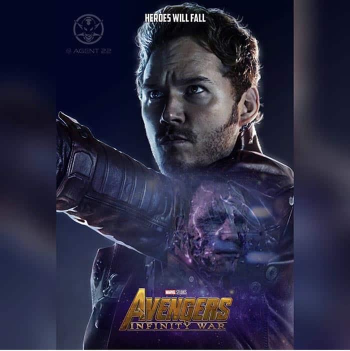 Póster Vengadores: Infinity War (2018) - Star-Lord