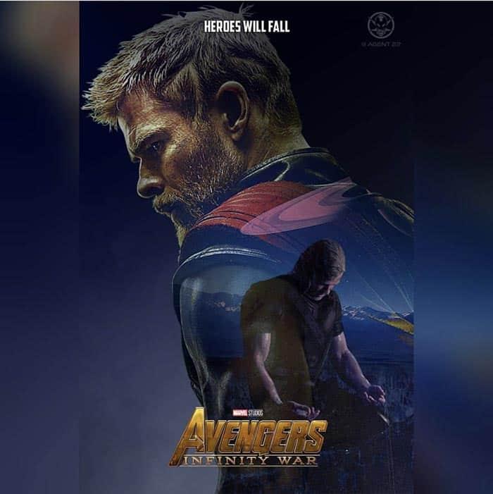 Póster Vengadores: Infinity War (2018) - Thor