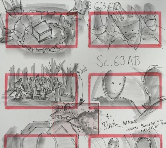 Storyboard de la Liga de la Justicia (2017)