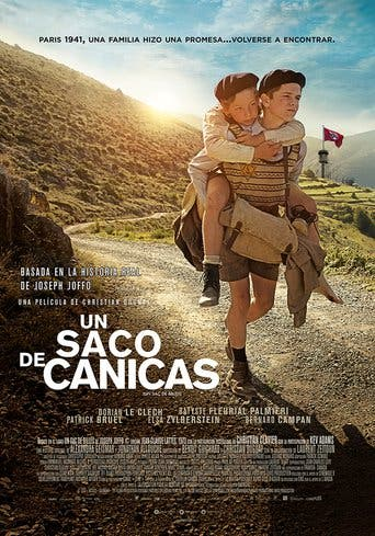 "Poster for the movie ""Una bolsa de canicas"""