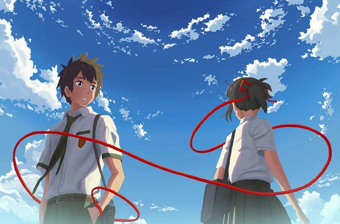 El hilo rojo del destino en Your Name (2016)