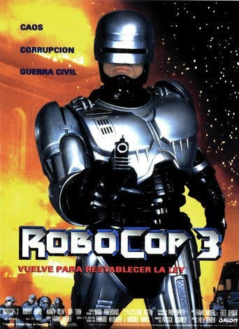 "Poster for the movie ""RoboCop 3"""