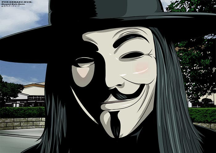 Fan art de V de Vendetta