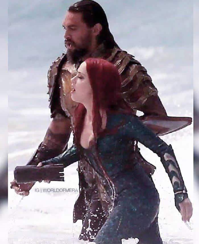 Aquaman y Mera en la Liga de la Justicia (2017)