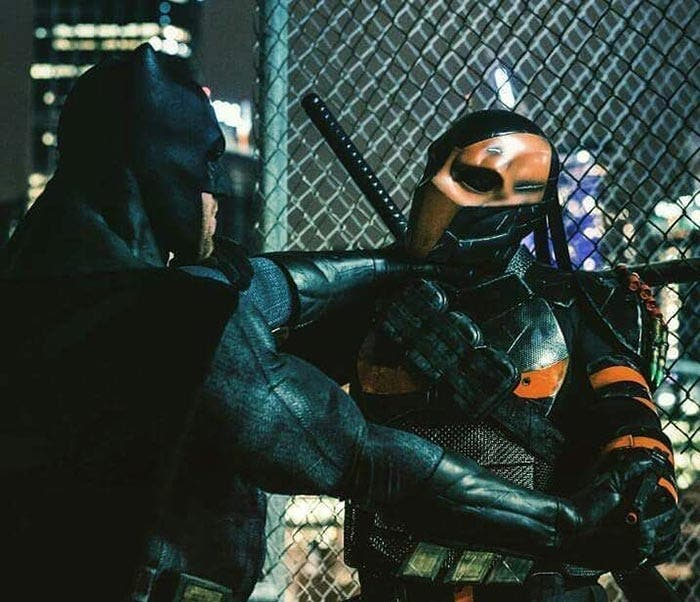 Batman vs Deathstroke en la Liga de la Justicia (2017)