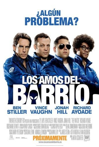 "Poster for the movie ""Los amos del barrio"""