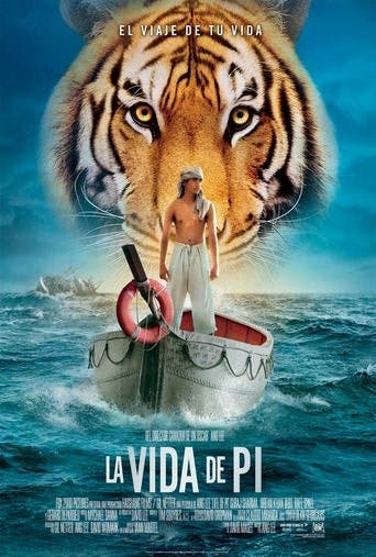 "Poster for the movie ""La vida de Pi"""