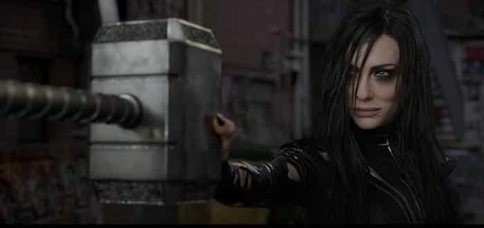 Escena del martillo en Thor: Ragnarok