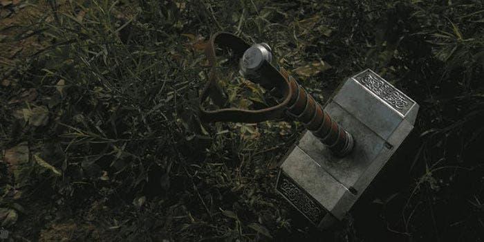 El martillo de Thor en Vengadores: Infinity War (2018)