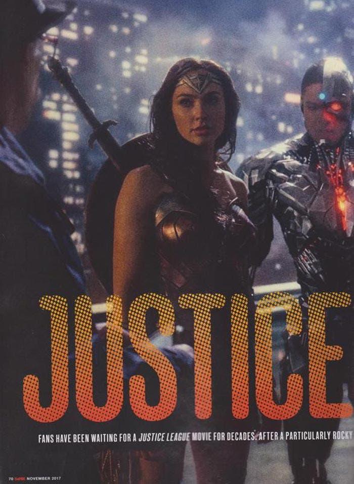 Wonder Woman y Cyborg en la Liga de la Justicia (2017)