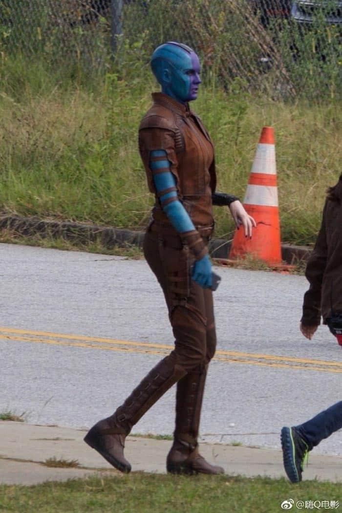 Nébula en el rodaje de Vengadores 4 (2019)