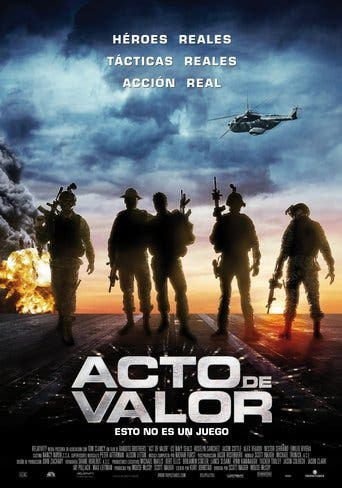 """Poster for the movie """"Acto de valor"""""""