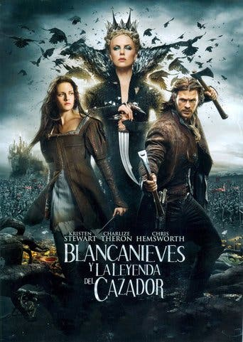 "Poster for the movie ""Blancanieves y la leyenda del cazador"""