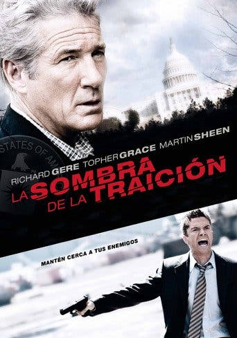 "Poster for the movie ""La sombra de la traición"""