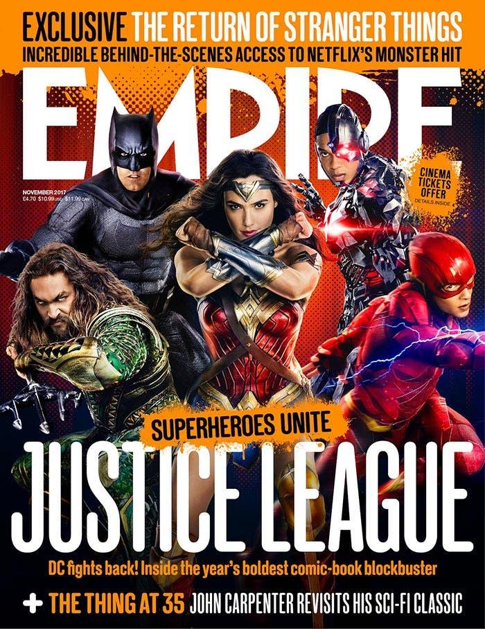 Portada de Empire con la Liga de la Justicia (2017)