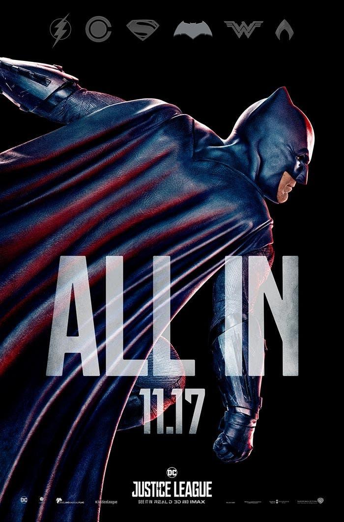 Póster final de la Liga de la Justicia: Batman