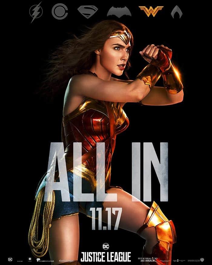 Póster final de la Liga de la Justicia: Wonder Woman