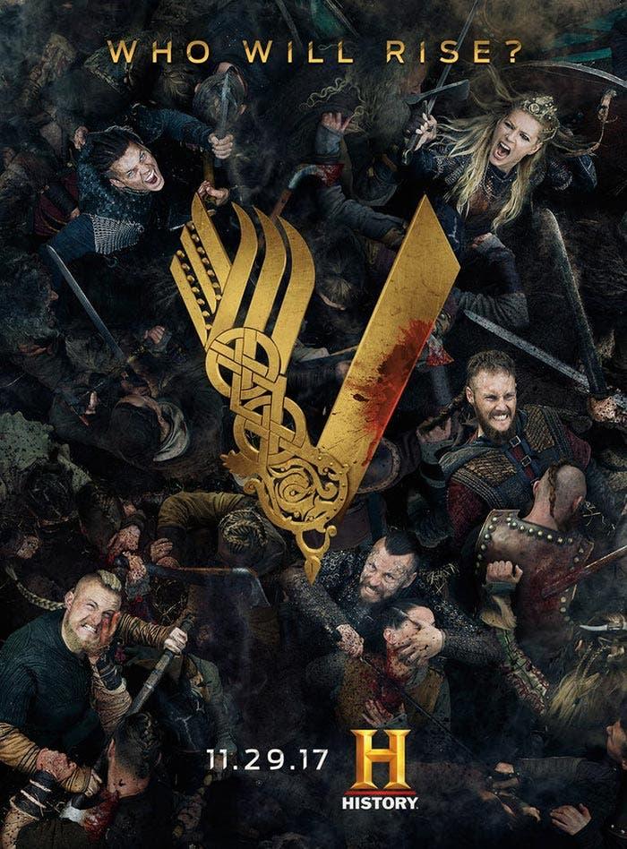 Póster de la temporada 5 de Vikingos (Vikings)