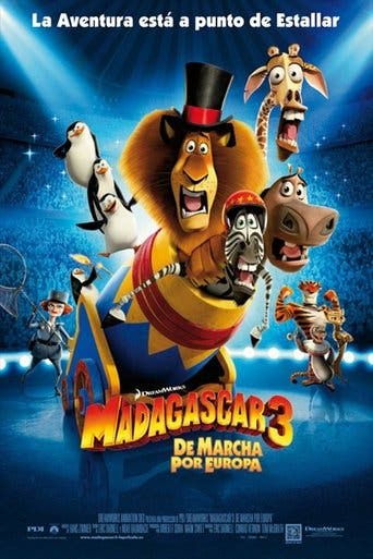 "Poster for the movie ""Madagascar 3: De marcha por Europa"""