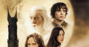 """Poster for the movie """"El señor de los anillos: Las dos torres"""""""