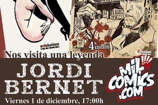 Jordi Bernet firma en Milcomics.com