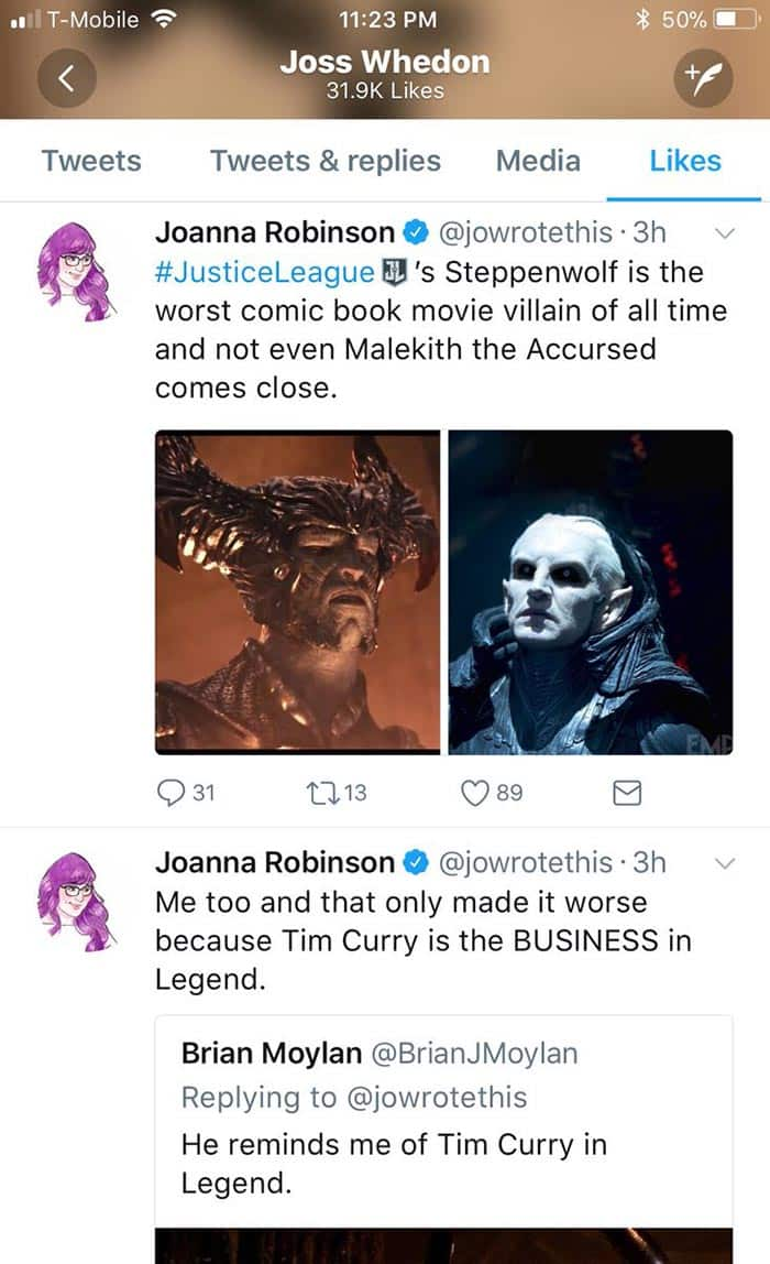 Joss Whedon pasa de las críticas de la Liga de la Justicia (2017)