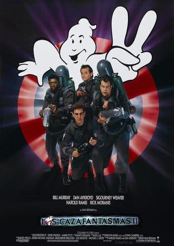 """Poster for the movie """"Los cazafantasmas II"""""""