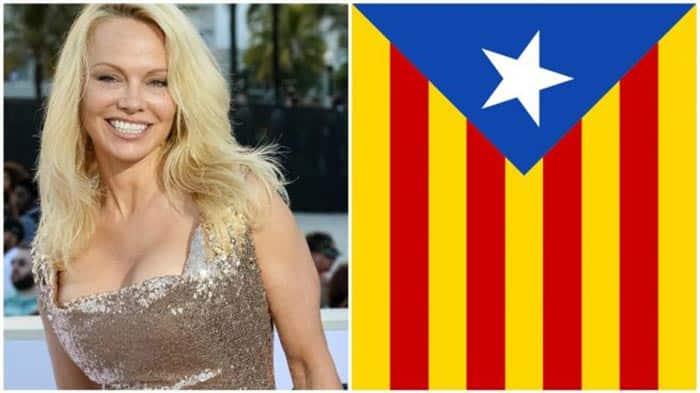 Pamela Anderson y la Independencia de Cataluña
