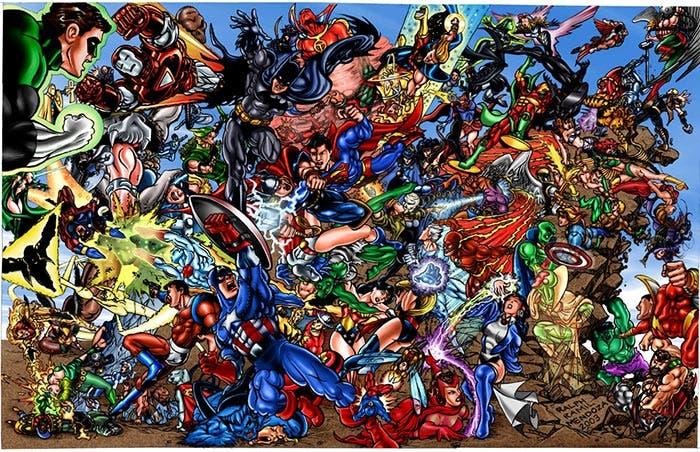 Los Vengadores vs Liga de la Justicia
